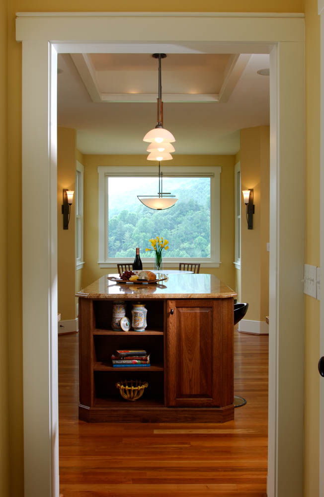 Modern craftsman house acm design asheville for Modern craftsman interiors