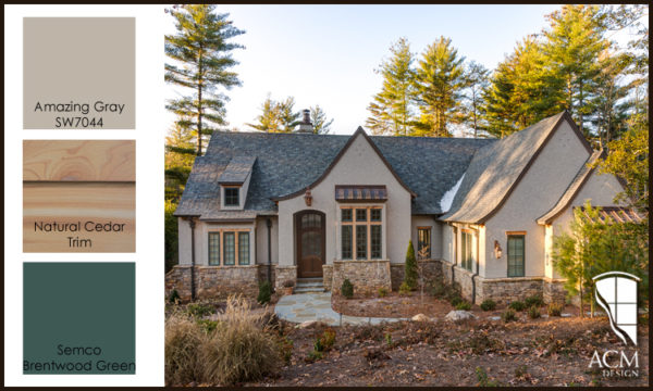 Exterior Paint Color Palette - Amazing Gray