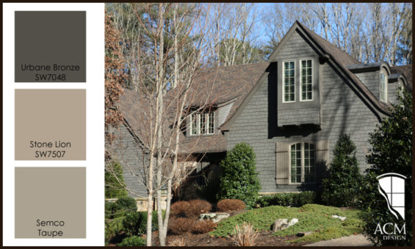 Exterior Paint Color Palette - Urbane Bronze