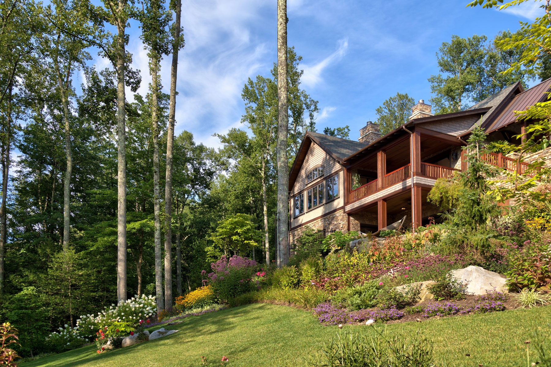 Landscaping a mountain slope