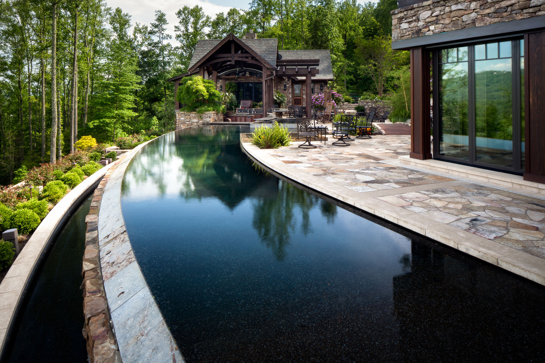 Mountainside infinity edge pool
