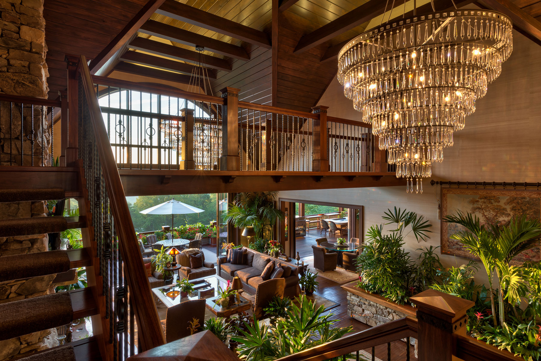 open-two-story-living-room-wood-work