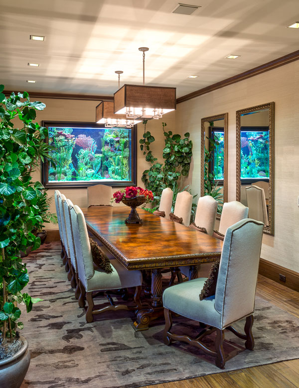 Large Dining Room at the Modern Rustic Mountain Estate Home