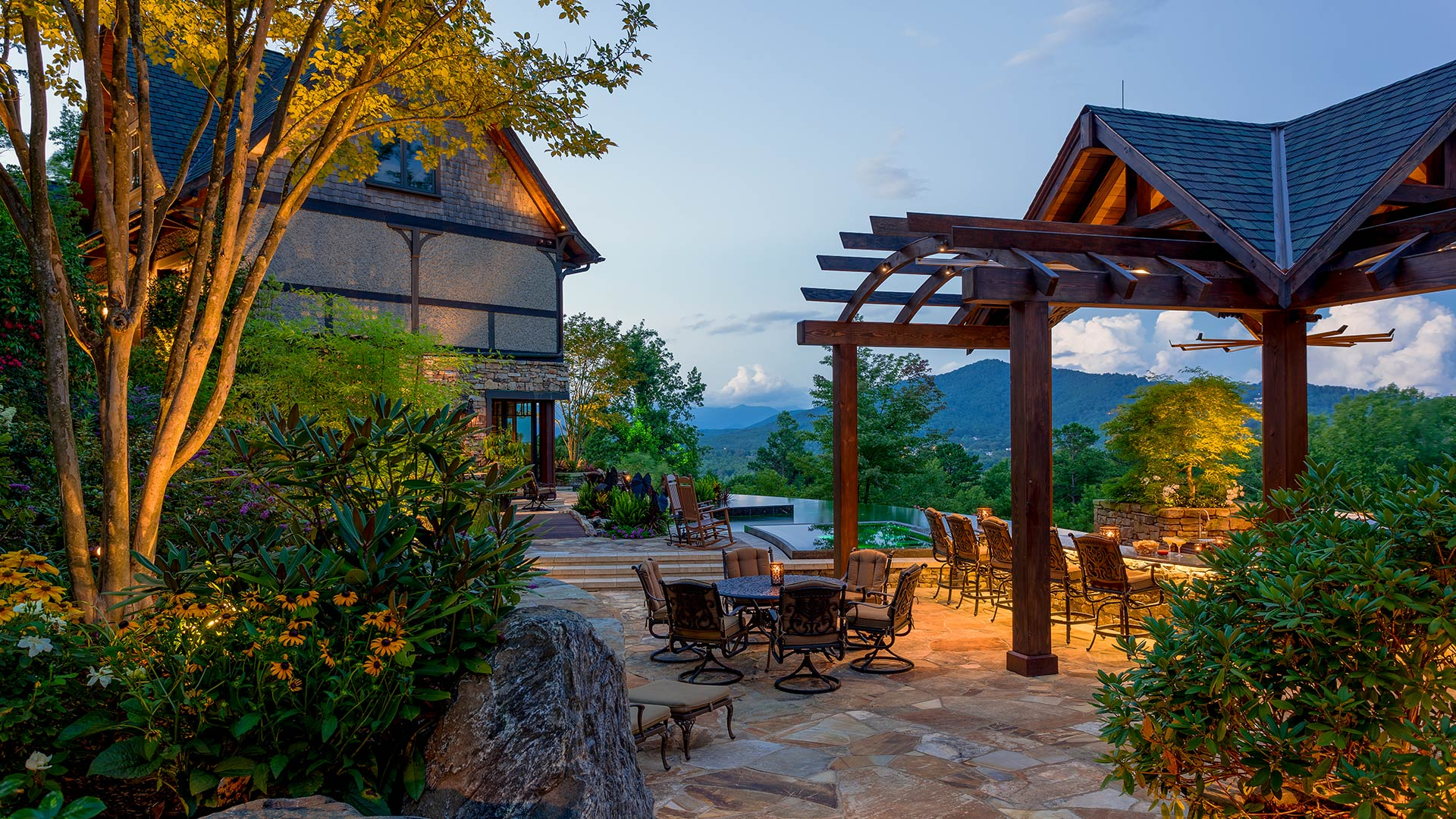 Award Winning Outdoor Living Design by Asheville Mountain Home Architects at ACM Design
