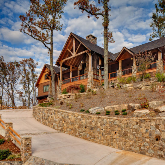 ACM Design, Mountain Home Architects design this new construction Family Lodge in Black Mountain