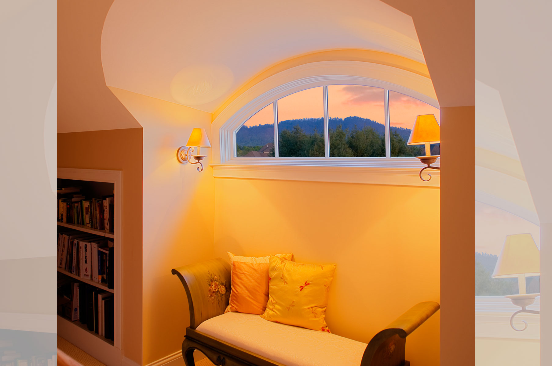Eyebrow Dormer Window at the English Cottage in Arden, NC