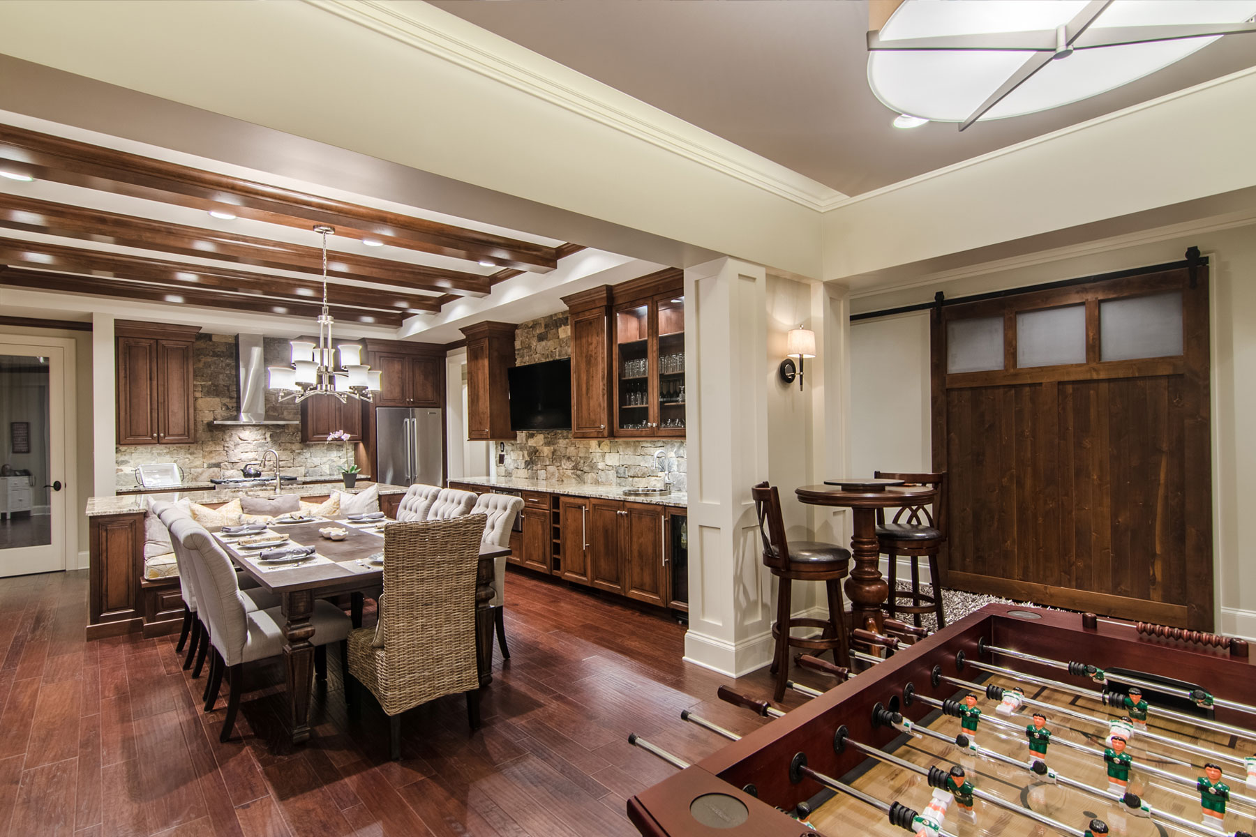 finished-basement-kitchen-large-dining-table