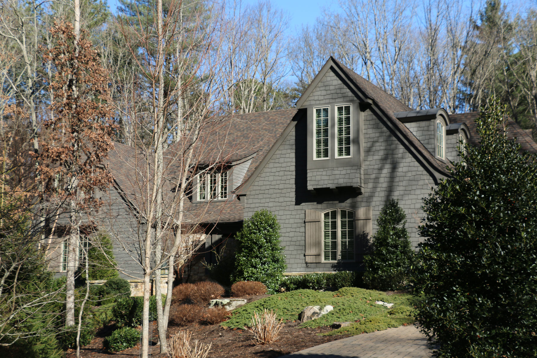English Manor Style Shingle Home in Asheville