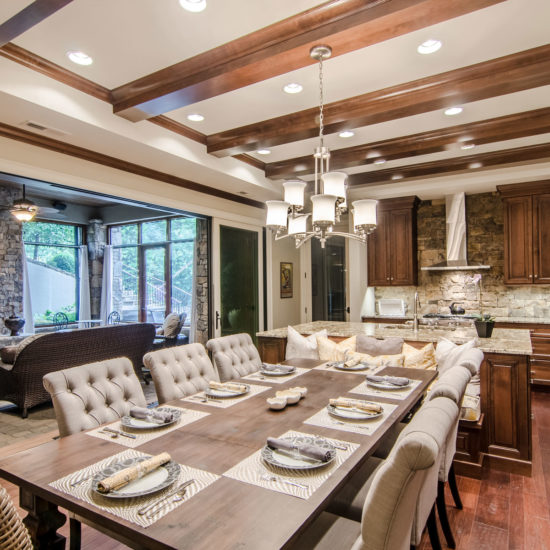 High-end build out of lower level with custom details from the Mountain Architects and Interior Designers at ACM