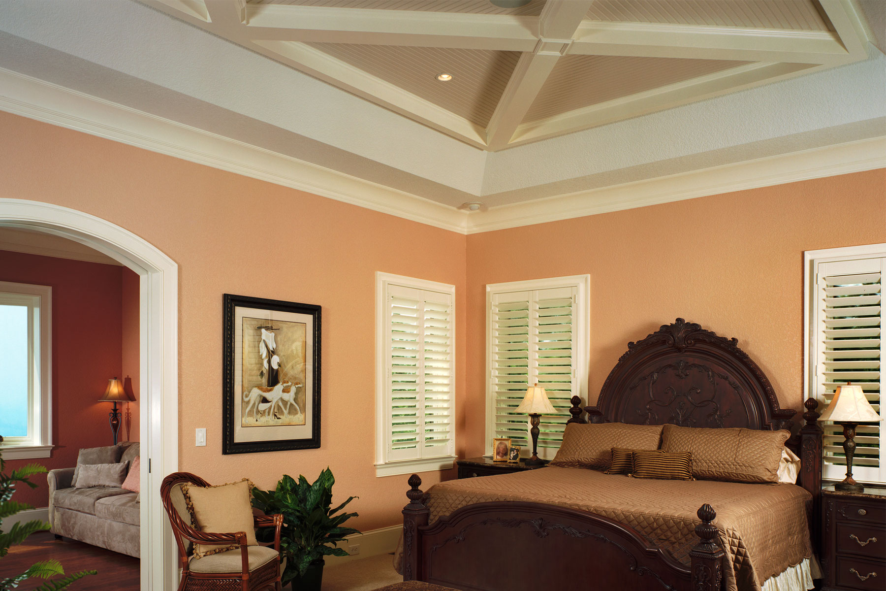 master-bedroom-coffered-ceiling-woodwork-detail