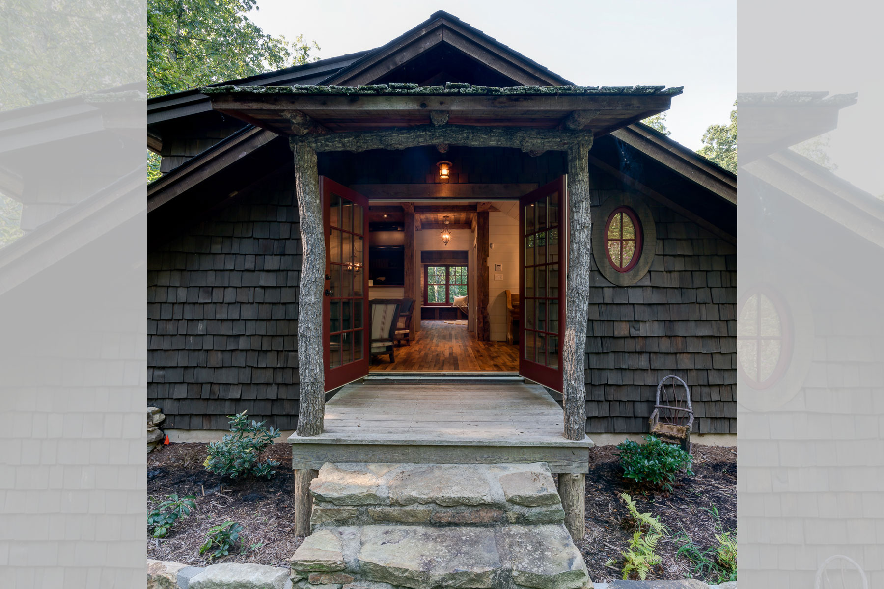 Front Entrance of the Rustic Mountain Carriage Guest House