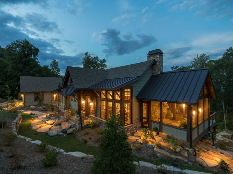 Rustic Mountain Home designed by the Architects and Interior Designers at ACM Design