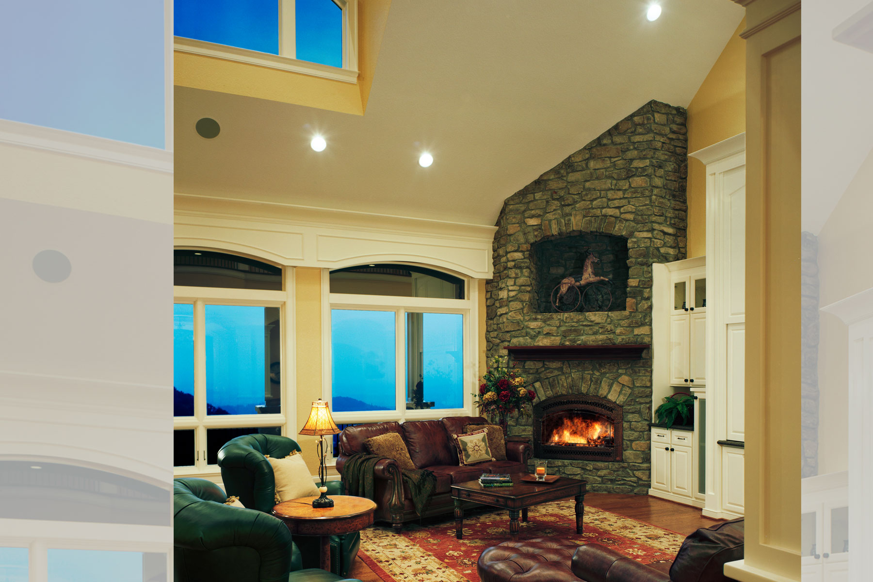 vaulted-ceiling-family-room-den-mountain-views
