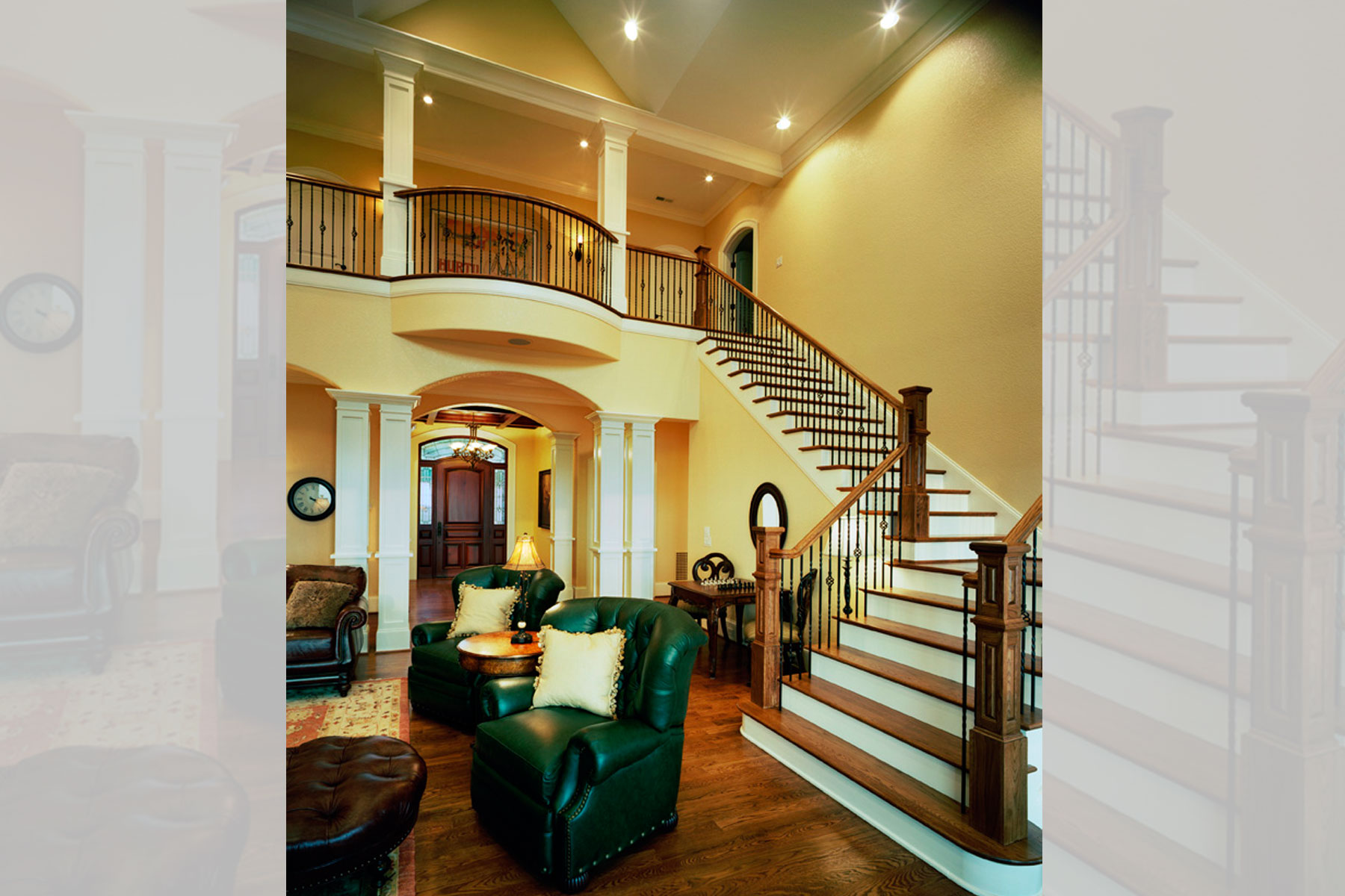 two story balcony Two Story Greatroom Open Staircase Balcony ACM Design