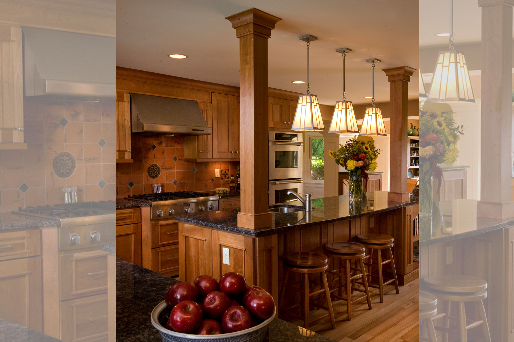 Craftsman style kitchen design for a chef