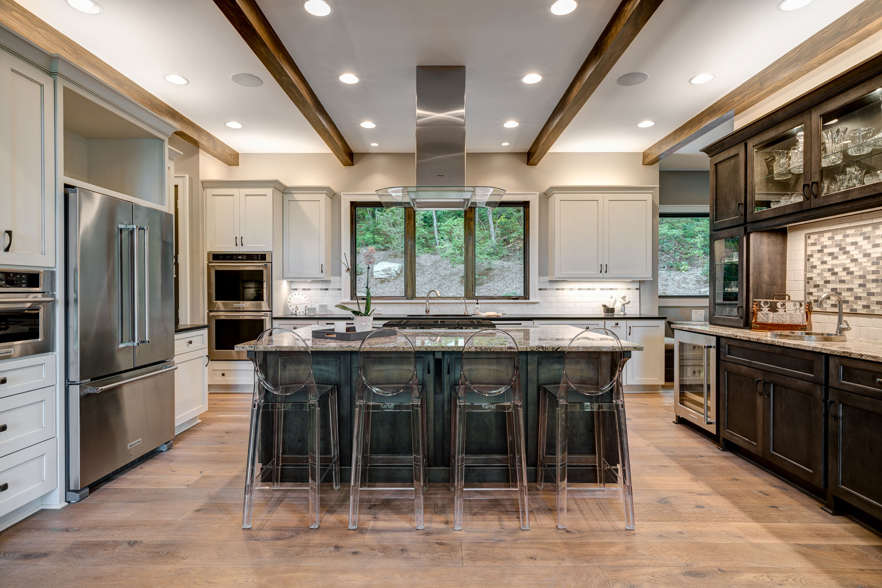 Kitchen of the Waynesville Modern Mountain Home