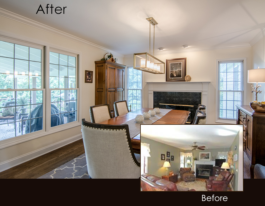South Asheville Renovation Before After Photo 2