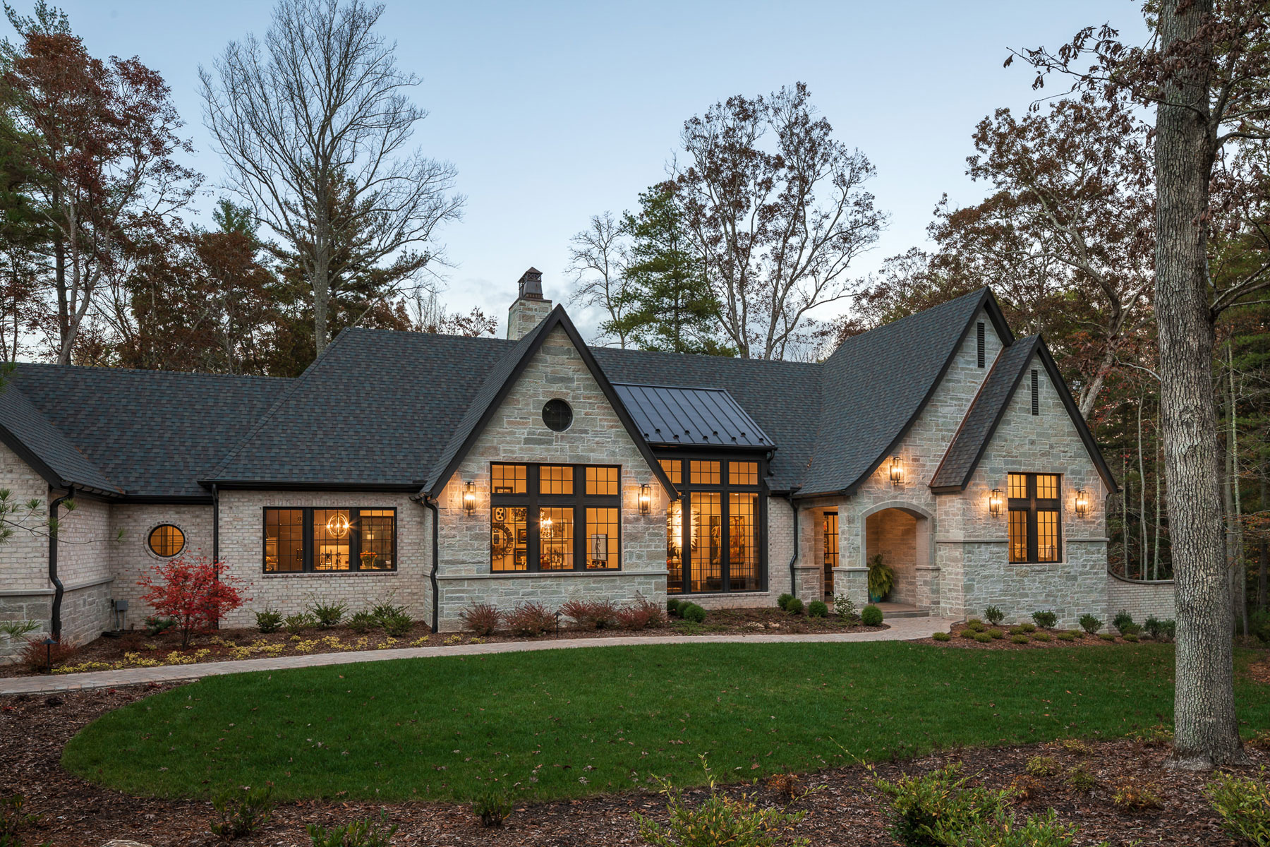 Front elevation of ACM Design architecture & interiors designed custom home