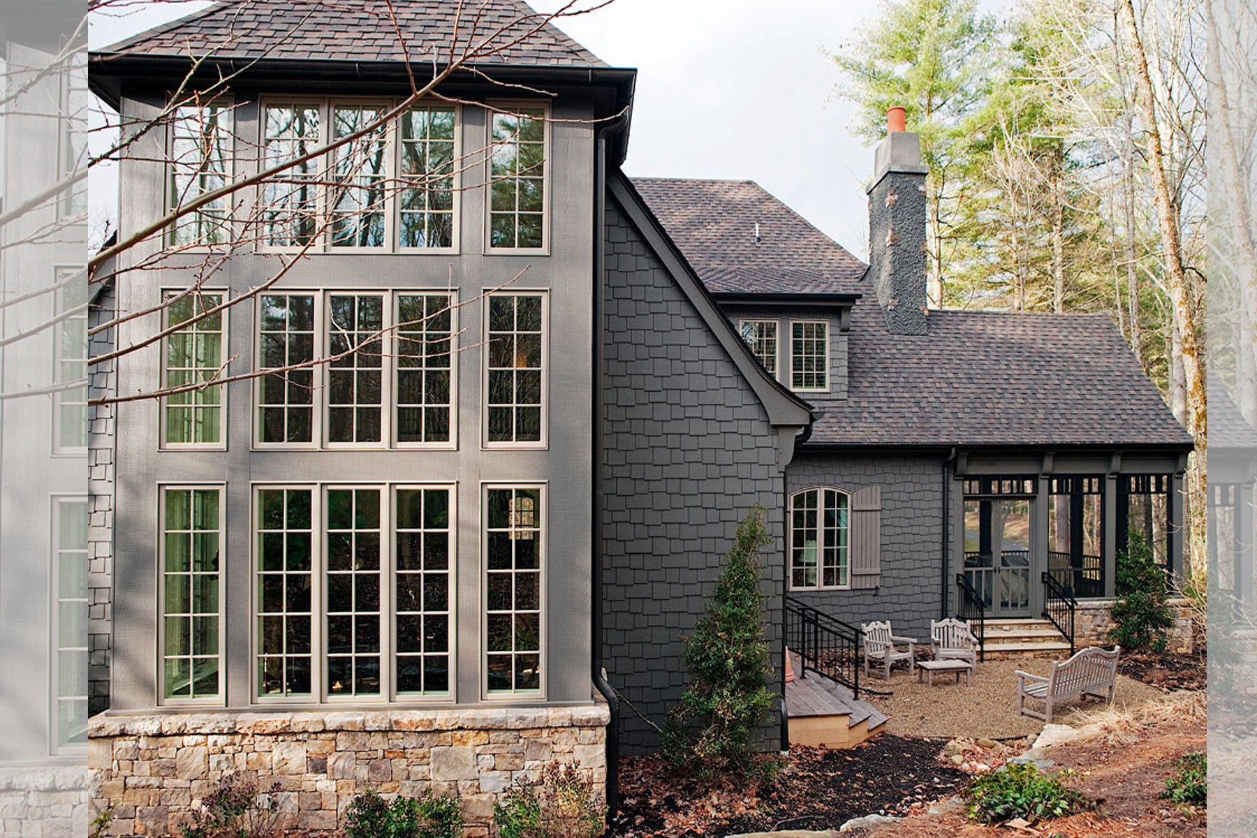 asheville-architect-designed-home-exterior-wall-of-windows