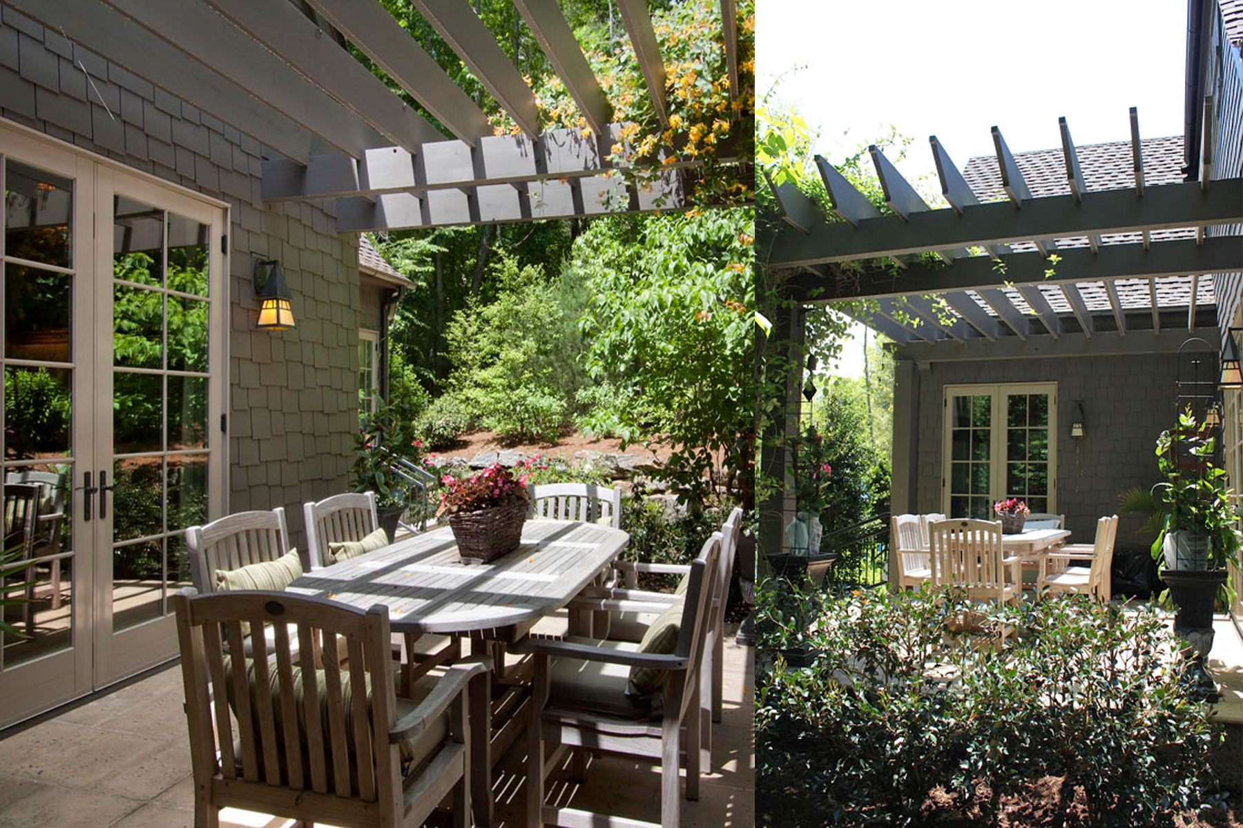 Dining patio with pergola