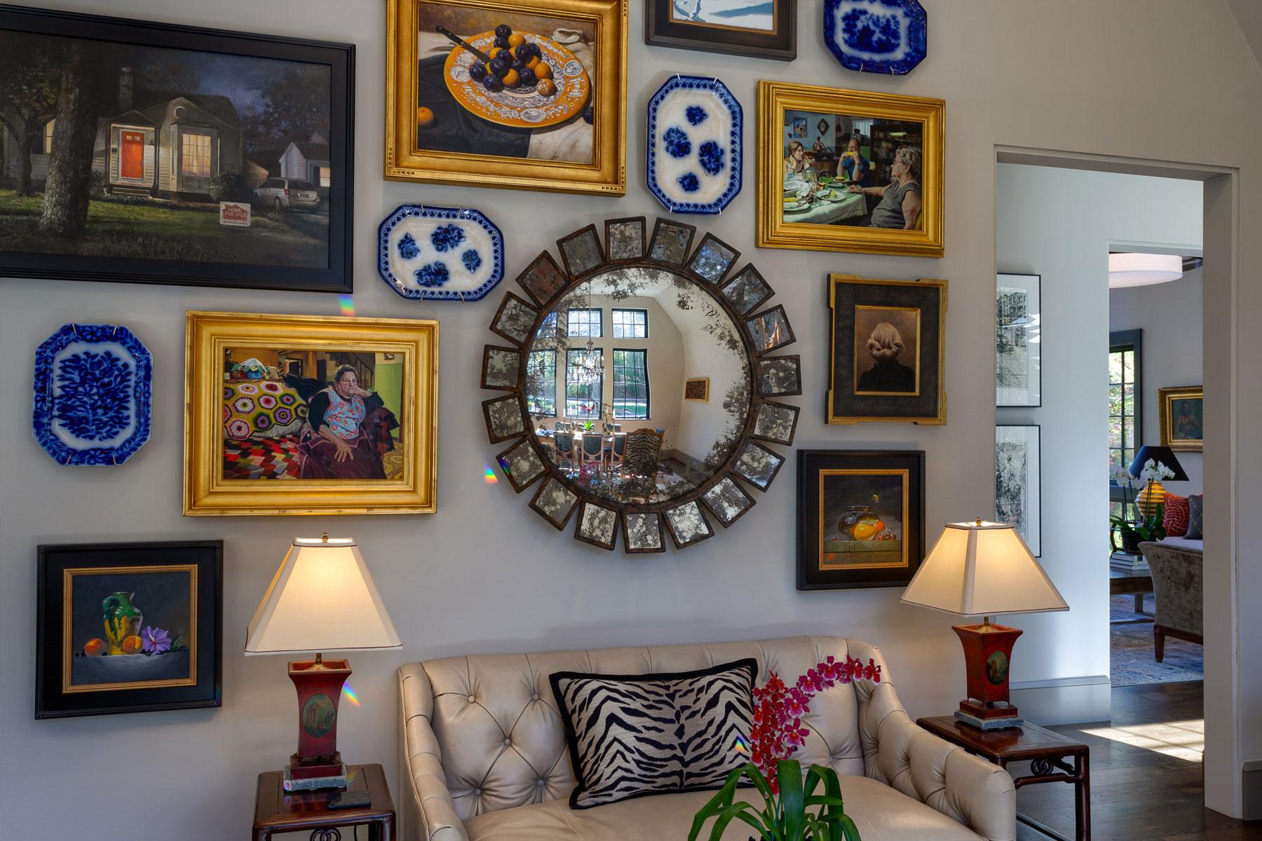 Gallery wall of original art