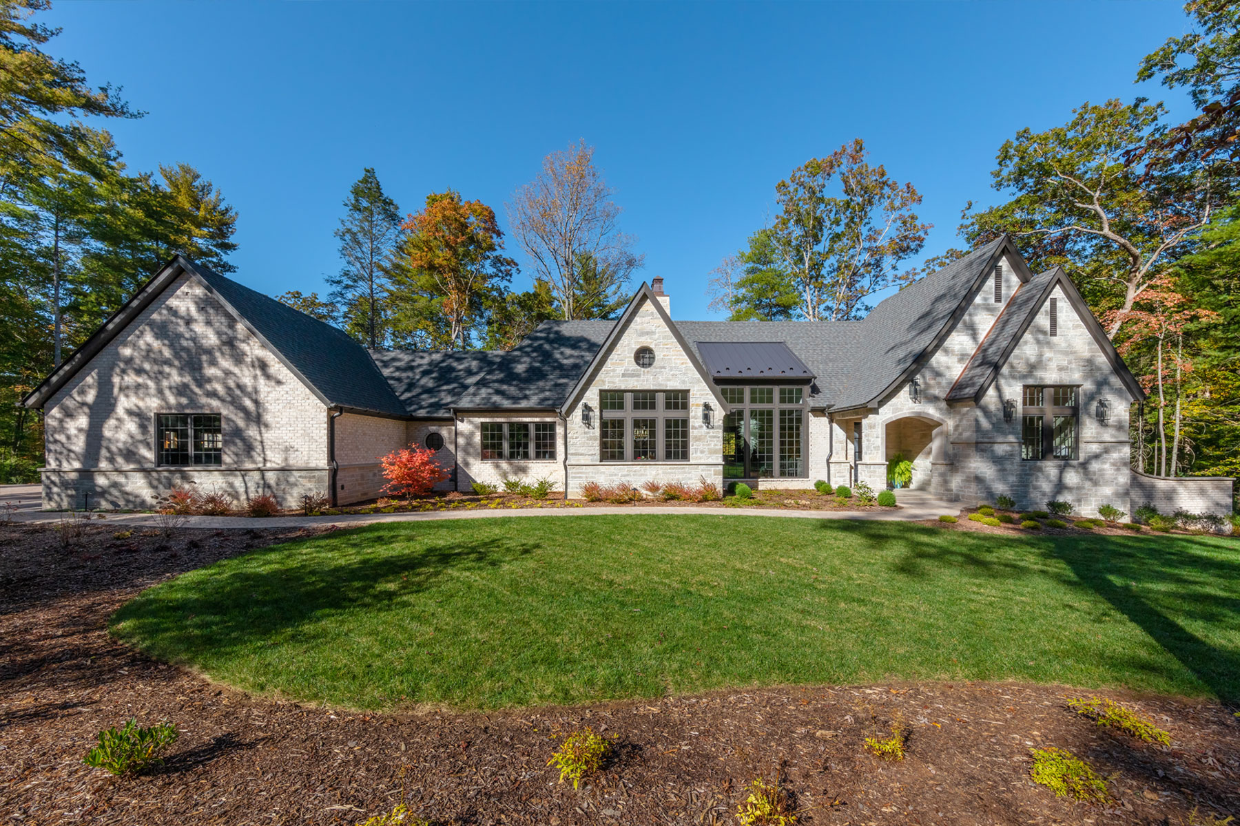 Luxury retirement home design for stone house in the mountain community of Asheville, NC