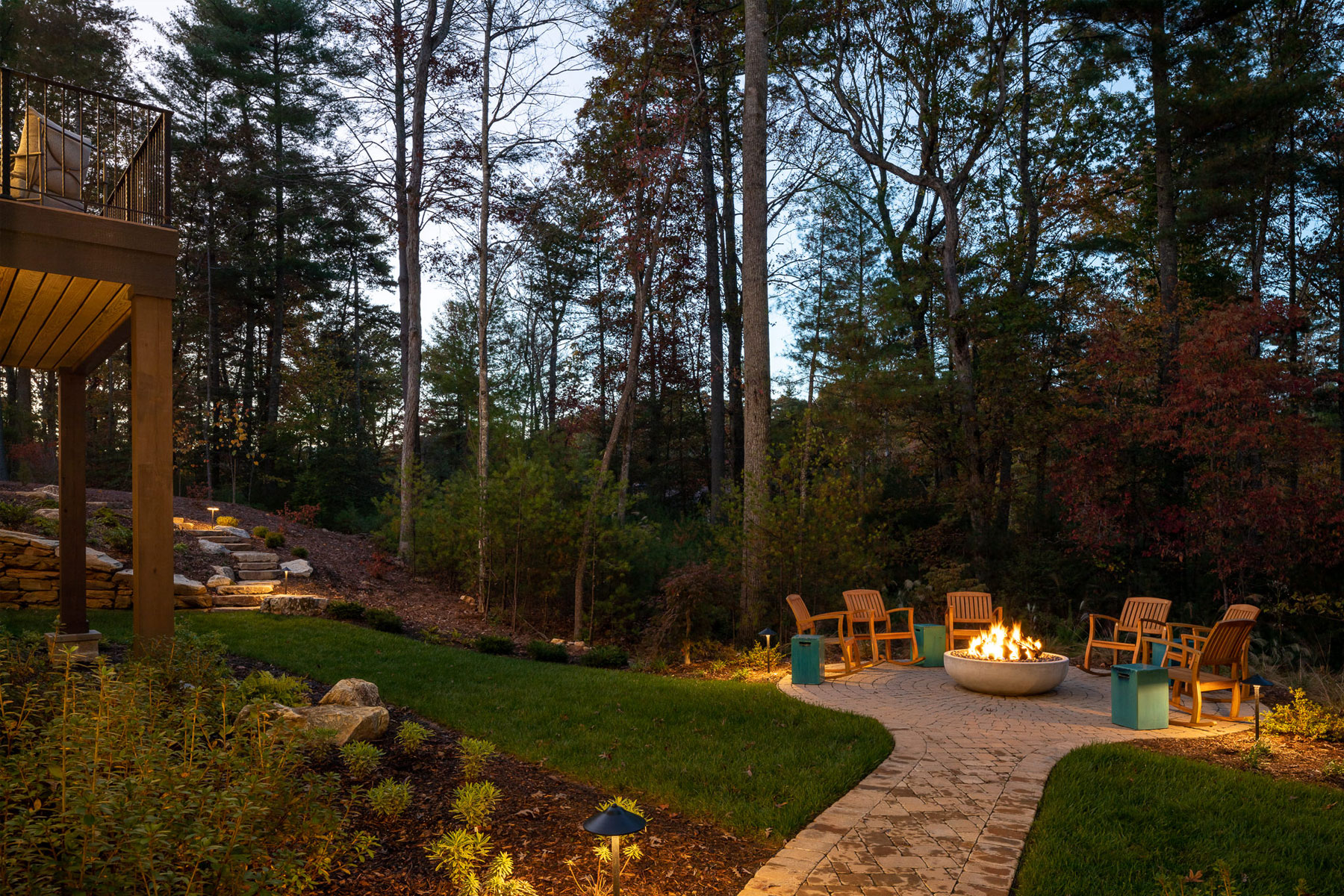 Designing an outdoor entertaining area in Asheville, NC