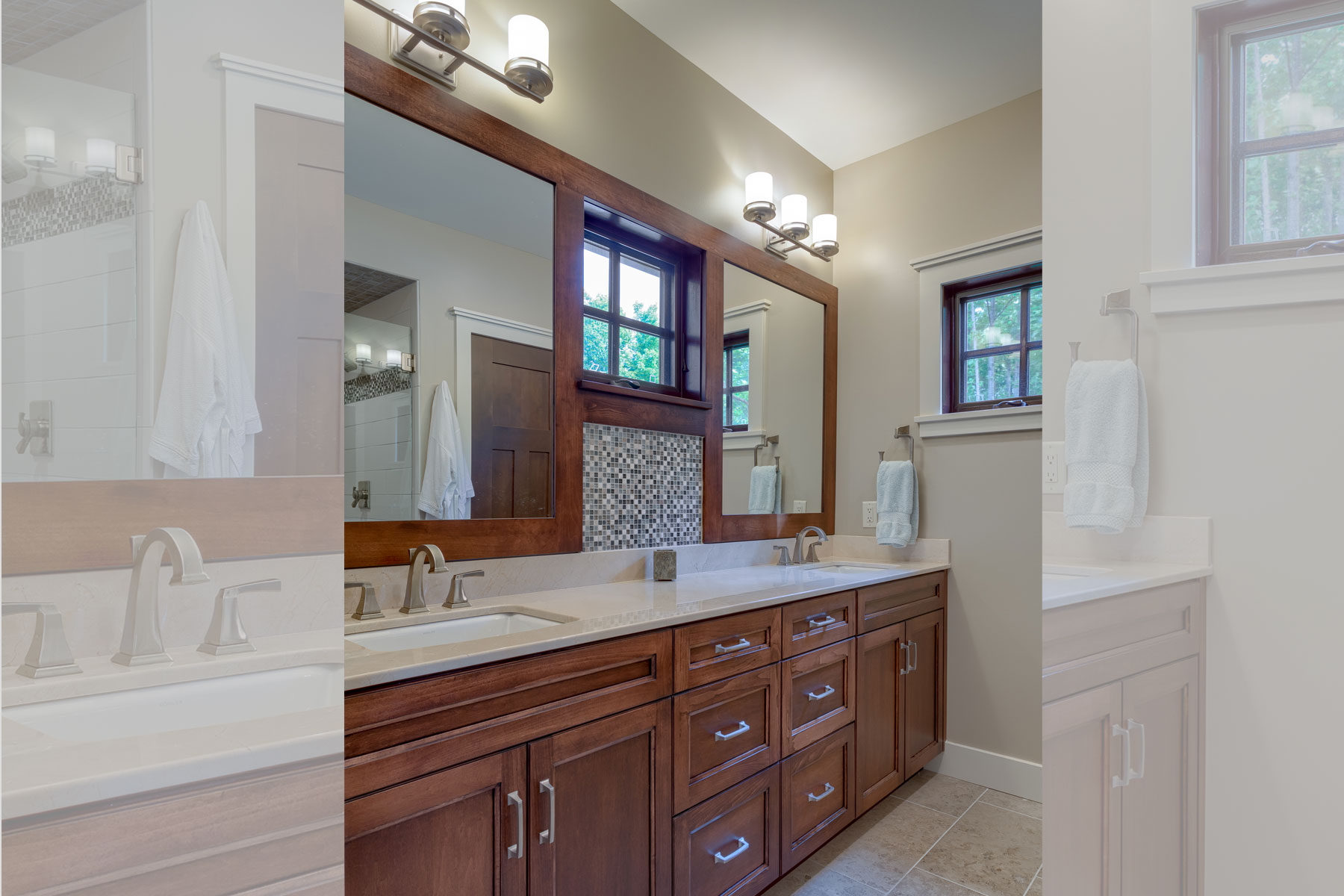Details in Master Bath Design, Craftsman