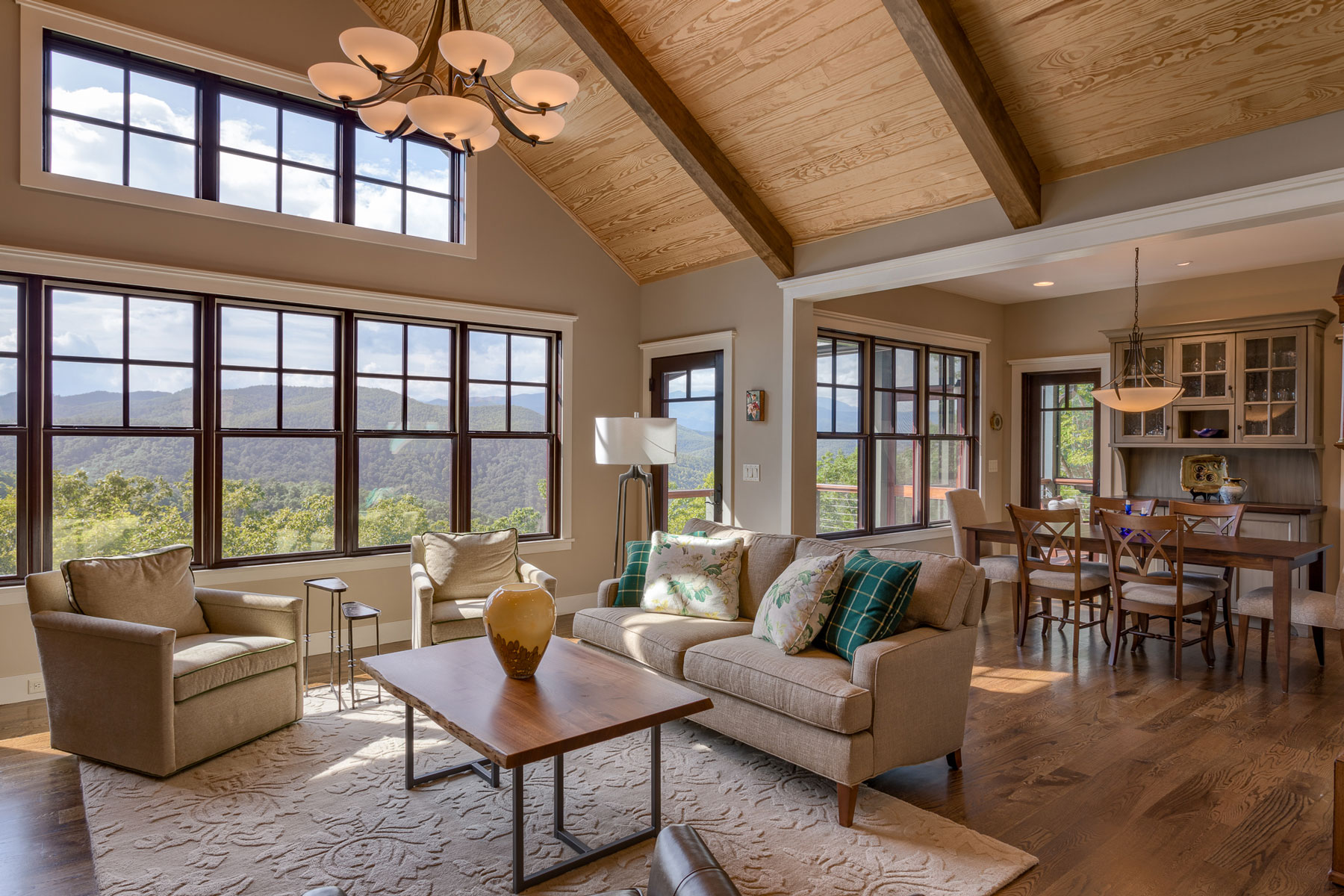 Vacation Home Design: Traditional Mountain Craftsman
