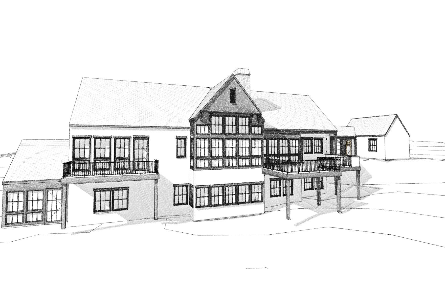 sketch-architect-custom-mountain-home-Asheville