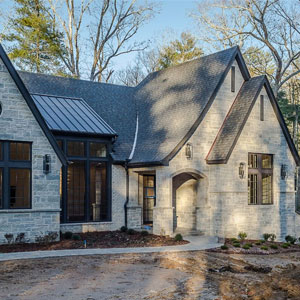 Lumiere House custom designed home, romantic style with modern interior in Asheville