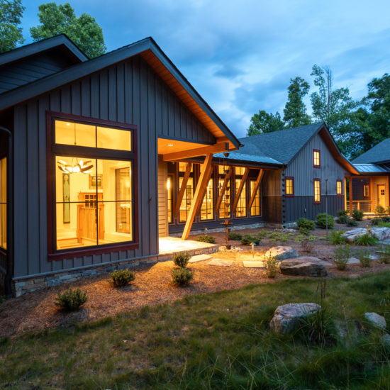 New construction mountain home--modern craftsman with industrial touches, designed by ACM Design Architecture and Interiors