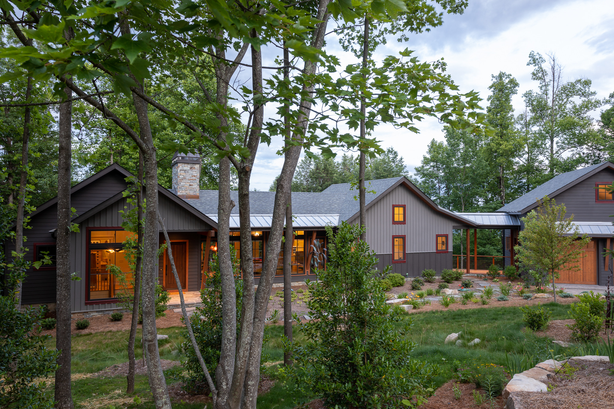 Modern Craftsman with Industrial touches and Craftsman flair in the woods of Western North Carolina